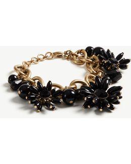 Floral Stone Statement Bracelet