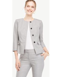 Grisaille Peplum Jacket