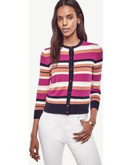 Stripe Cropped Ann Cardigan