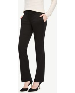 The Petite Straight Leg Pant In Cotton Sateen - Devin Fit