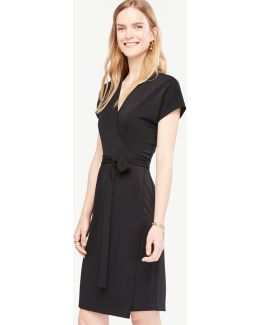 Short Dolman Sleeve Wrap Dress