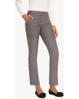 The Ankle Pant In Daisy Jacquard - Devin Fit