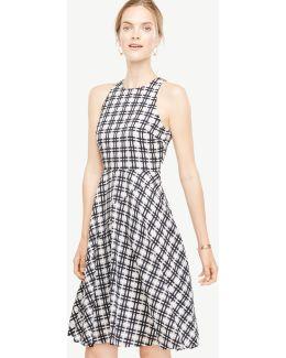 Plaid Flare Dress