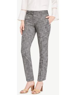 The Ankle Pant In Textured Stretch - Kate Fit
