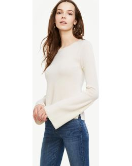 Cashmere Fluted Sleeve Sweater