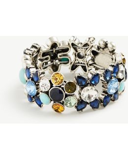 Blue Bandana Stretch Bracelet