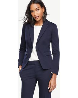 Petite Cotton Sateen One Button Jacket