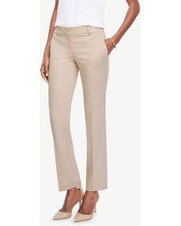 The Tall Straight Leg Pant In Cotton Sateen - Devin Fit