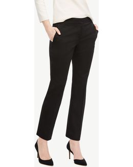 The Tall Ankle Pant In Cotton Sateen - Devin Fit
