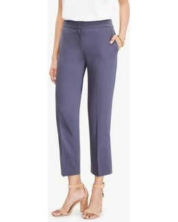 The Ankle Pant In Cotton Sateen - Kate Fit