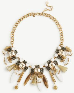 Resin Petal Statement Necklace