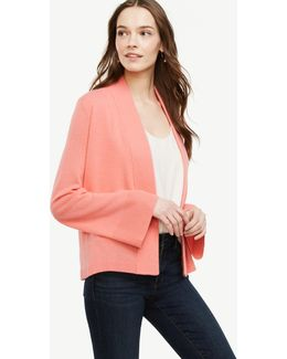 Cashmere Bell Sleeve Open Cardigan