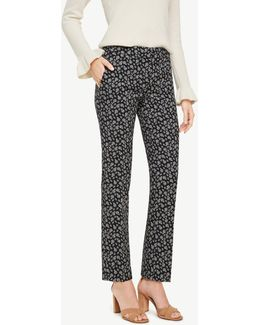 The Petite Ankle Pant In Budding Blossoms - Devin Fit