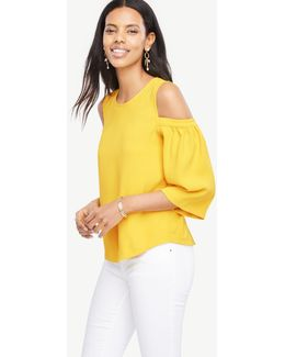 Cold Shoulder Bell Sleeve Top
