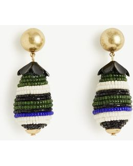 Seed Bead Drop Earrings