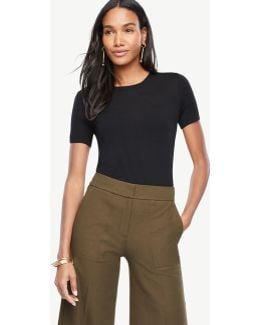 Extrafine Merino Wool Short Sleeve Sweater
