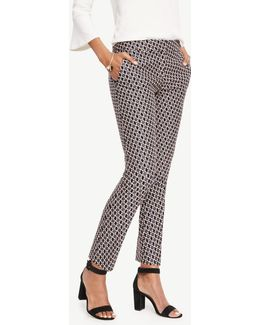 The Petite Ankle Pant In Daisy Jacquard - Kate Fit