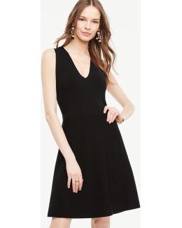 Petite Crossover Back Flare Dress