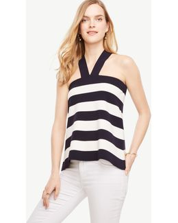 The Striped Halter Sweater