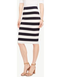 Petite Striped Sweater Pencil Skirt
