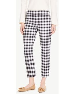 The Crop Pant In Gingham - Kate Fit
