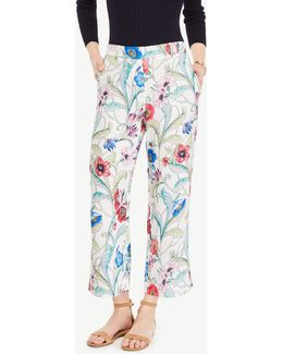 The Wide Leg Crop Pant In Jungle Floral