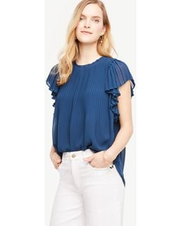 Pleated Shoulder Blouse