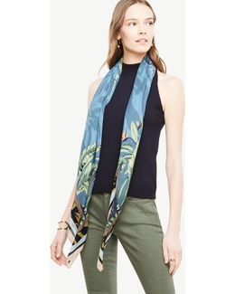 Tropical Border Square Scarf