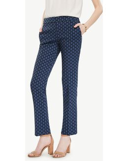 The Ankle Pant In Petal Jacquard - Kate Fit