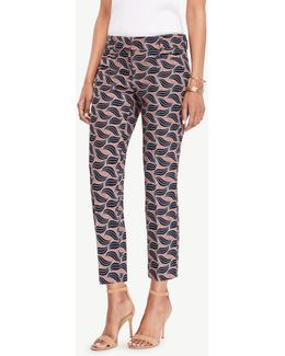 The Crop Pant In Leaf Swirl - Kate Fit