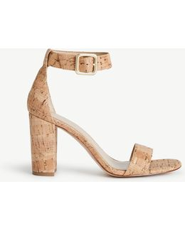 Leda Cork Block Heel Sandals