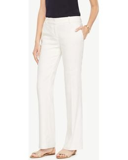 The Tall Trouser In Linen Blend - Devin Fit