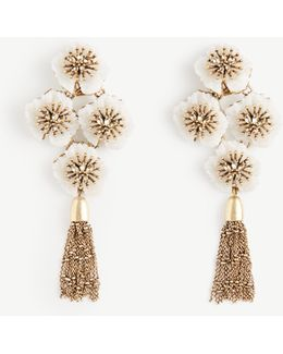 Textured Floral Statement Earrings