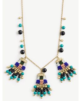 Variegated Seed Bead Statement Necklace