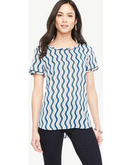 Stripe Piped Tee
