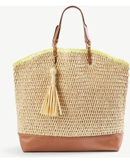 Straw Carryall Tote
