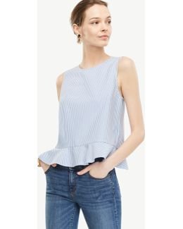 Stripe Peplum Shell