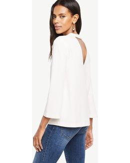 Petite Back Cutout Top