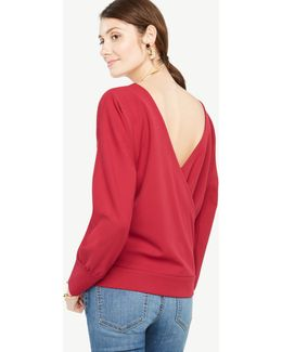 V-back Dolman Top