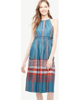 Petite Plaid Halter Dress