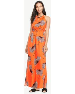 Petite Makena Flower Halter Maxi Dress