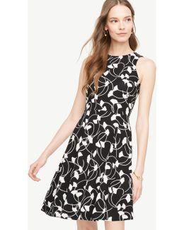 Petite Gingko Pocket Flare Dress