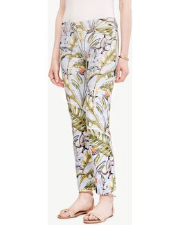 The Crop Pant In Tropic Print - Devin Fit