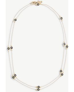 Enamel Disc Station Necklace
