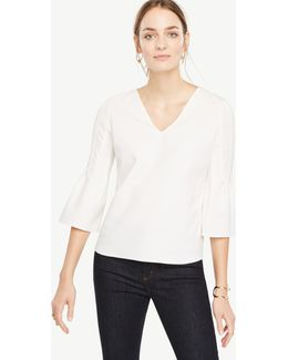 Petite Fluted Sleeve Top