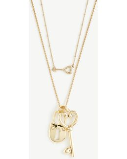 Lock And Key Pendant Layering Necklace