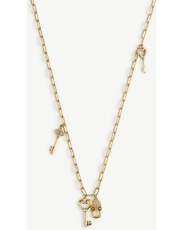 Lock And Key Layering Necklace