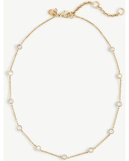 Short Crystal Station Necklace