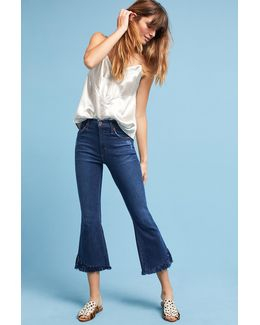 Kiki High-rise Cropped Flare Petite Jeans