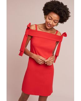 Marcella Off-the-shoulder Bow Dress